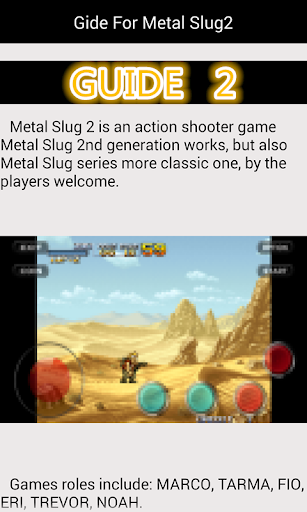 Guide For Metal Slug2  code Triche 2