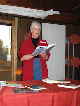 Photo: Camp - Guest speaker Linda Hasselstrom shares her prairie prose and poetry.