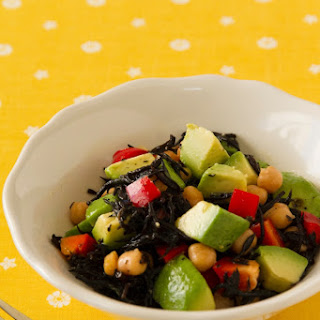 Avocado Salad with Soy Sauce and Wasabi Dressing