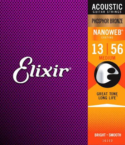Elixir Acoustic Phosphor Bronze NANOWEB | 013-056