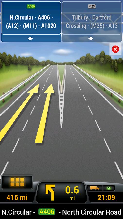 CoPilot Truck Europe Region- screenshot