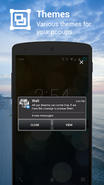 Popup Notifier- screenshot