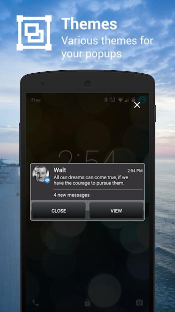 Popup Notifier- screenshot