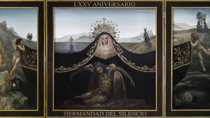Cartel del 75 aniversario del Silencio, obra de Fernando Vaquero.