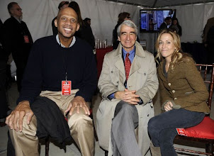 "Photo: WASHINGTON, DC - OCTOBER 30: Kareem Abdul-Jabbar (L), actor Sam Waterston (C), and musician Sheryl Crow backstage at the ""Rally to Restore Sanity And/Or Fear"" at the National Mall on October 30, 2010 in Washington, DC. (Photo by Frank Micelotta/Getty Images)"