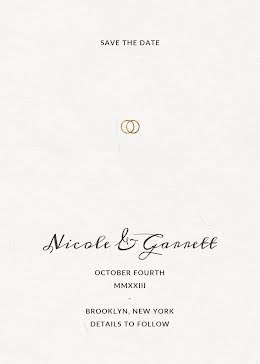 Nicole & Garrett's Wedding - Save the Date item