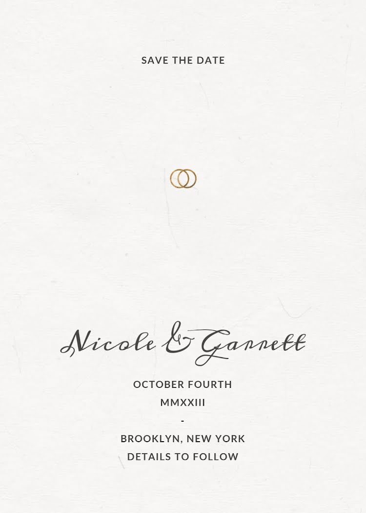 Nicole & Garrett's Wedding - Wedding Invitation Template