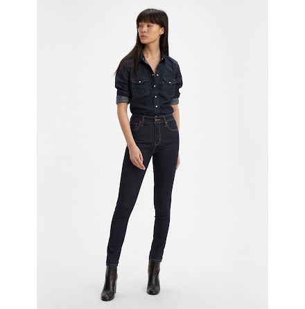 Levi's 721 High rise skinny jeans to the nine