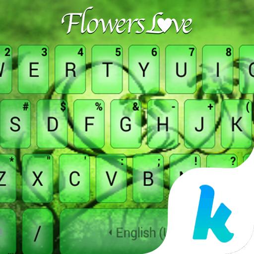 Flowers Love Kika Keyboard