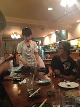 Photo: 9/16 稽古終わりにみくに丸にて。 石井サトシくんと保倉大朔さん。