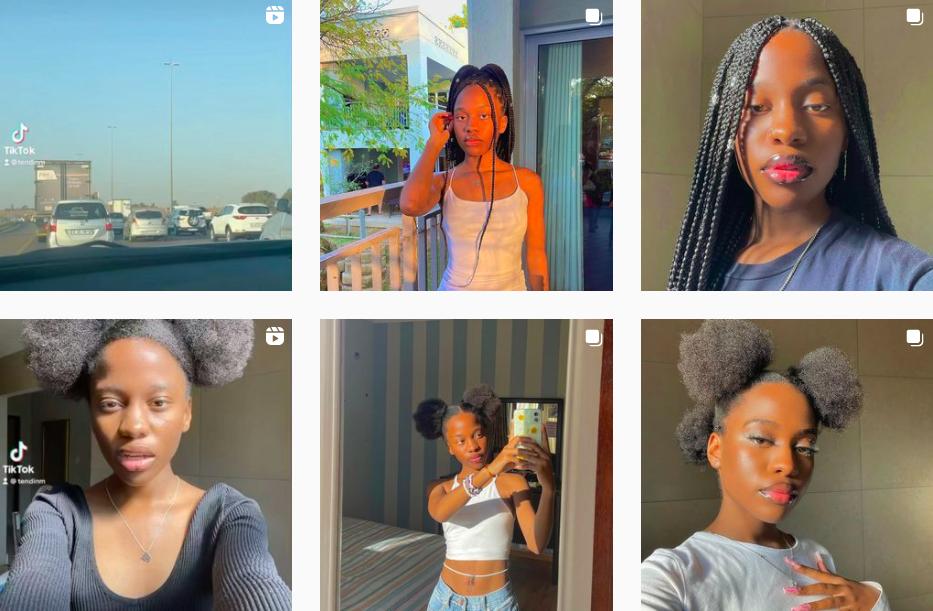 Tendani Nemudivhiso | South African Teen Influencer | Instagram Posts