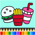 Food Coloring Book - kids Coloring Game