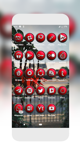 Download Orbic Red Icons Pack MOD APK 8