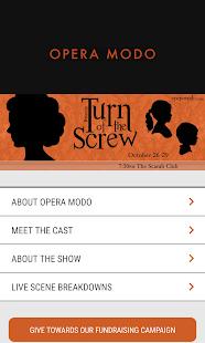 Opera MODO App - náhled