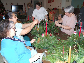Photo: Christmas Centerpiece Workshop at Mann Senior Center