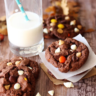 Gluten Free Double Chocolate Peanut Butter Cookies.