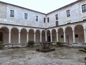 Photo: We started with a walking tour of Zadar where we visited the cloisters of St. Francis Church.  Consecrated in 1280 AD, it is now a monestery with six resident priests.