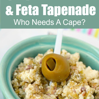Spicy Green Olive & Feta Tapenade.