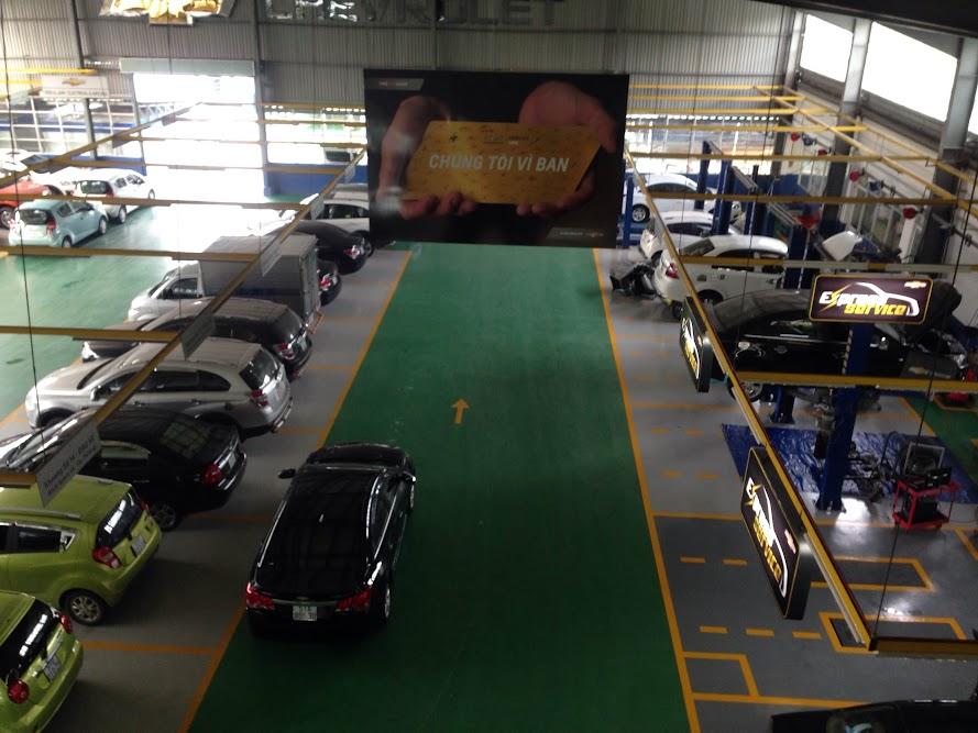 Xưởng sữa chữa của đại lý Chevrolet Việt Long