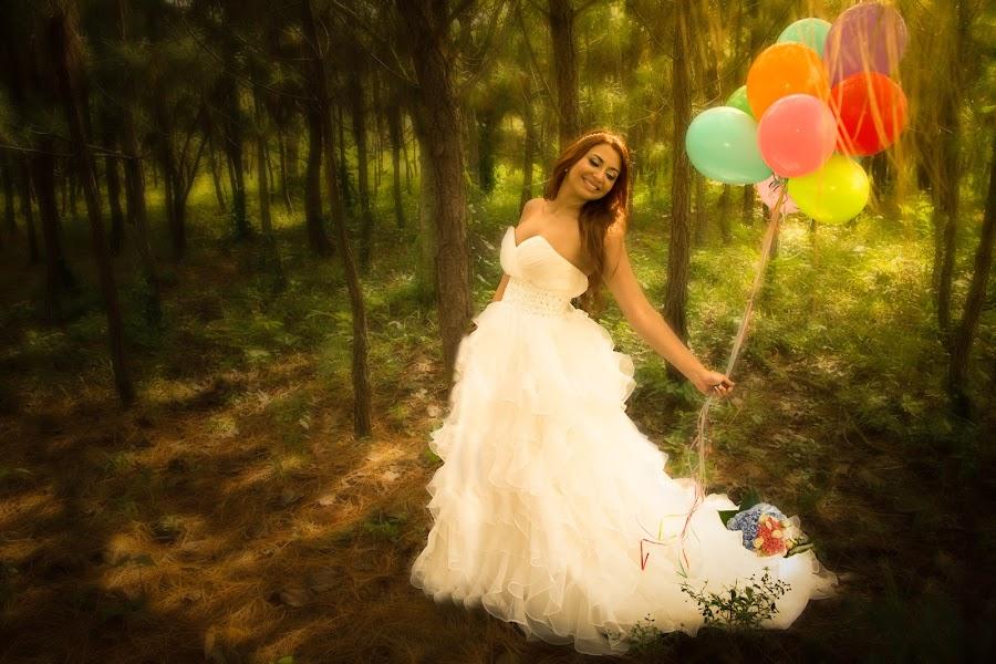 La novia by Jose German - Wedding Bride ( wood, green, wedding, globos, forest, pine, bride )