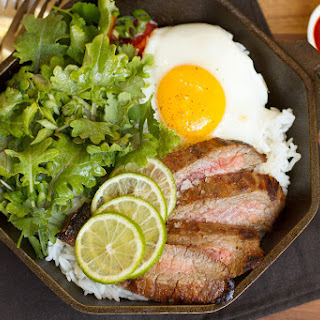 Spicy Thai Sriracha Steak and Eggs