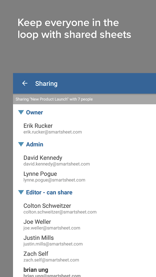 Smartsheet- screenshot