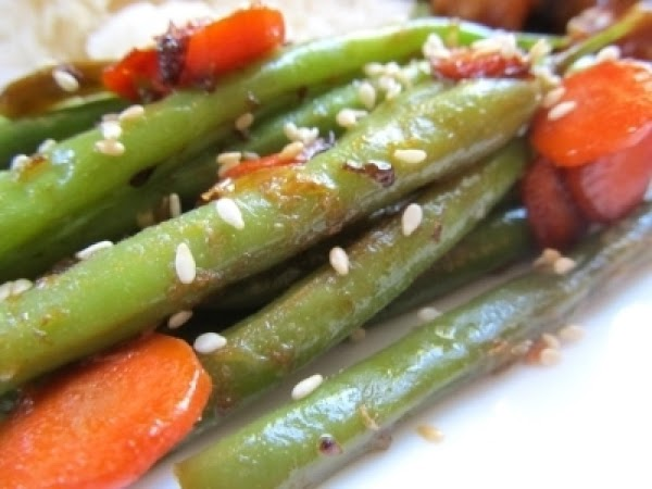 Ginger, Carrot And Sesame Green Beans Recipe