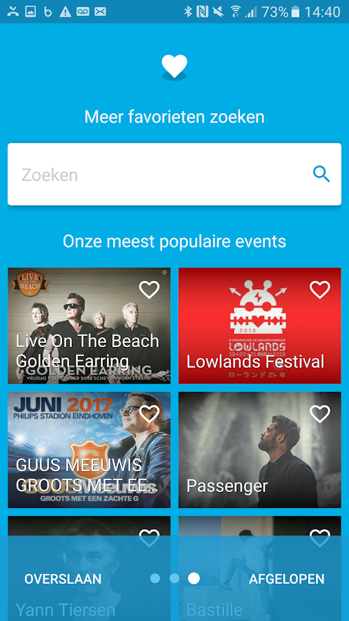 Ticketmaster Nederland: screenshot