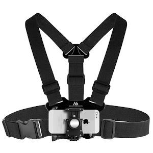 Suport MacLean MC-773, pentru piept, cu bretele sport, smartphone, aparat foto, GoPro