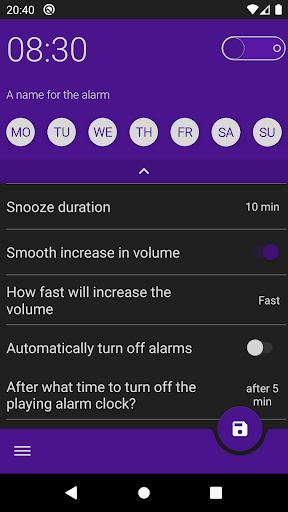 Pleasant alarm clock Malarm 2 screenshot 4