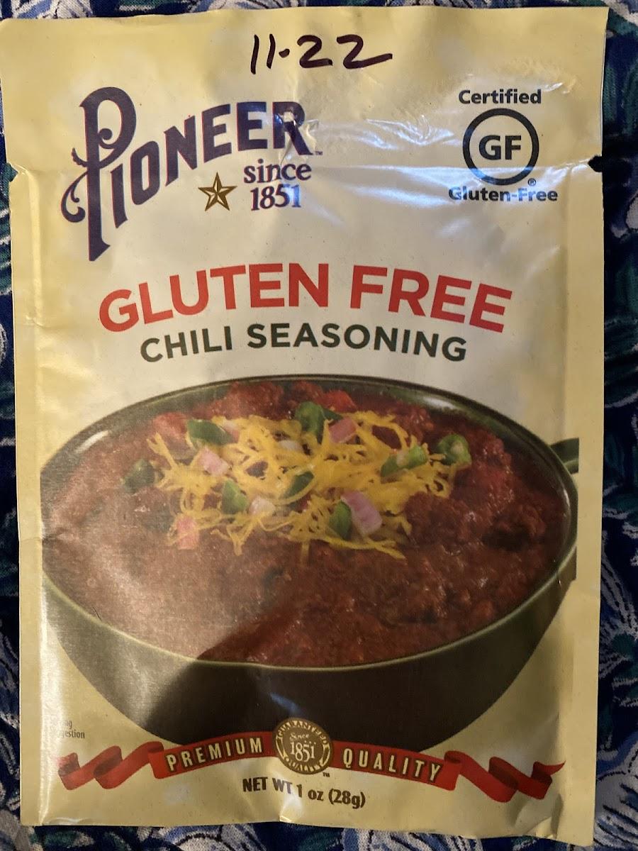 Gluten Free Chili Seasoning