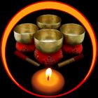 cuenco tibetano budista icon