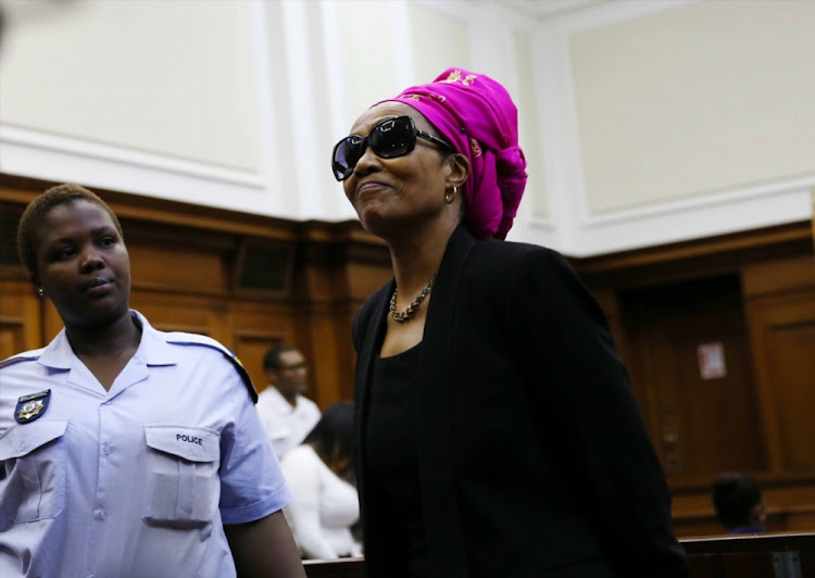 "Thandi Maqubela also known as the ""black widow"" appeared at the Cape Town High Court on March 31, 2015 in Cape Town."