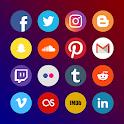Multi Social: Facebook, Instagram, Twitter, VK icon