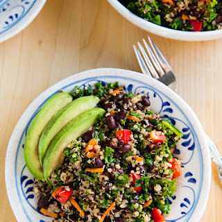 Kale and Quinoa Salad with Black Beans.