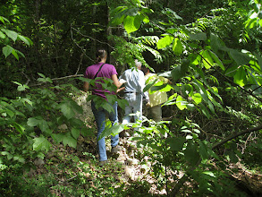 Photo: Ridge walking along the river through the jungle