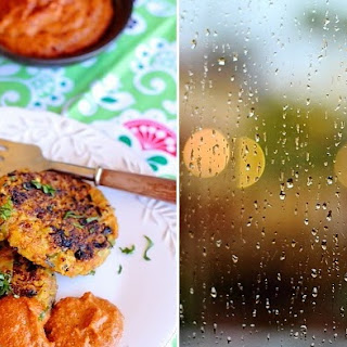 Cauliflower Cutlets/Patties with Roasted Red Pepper Dip