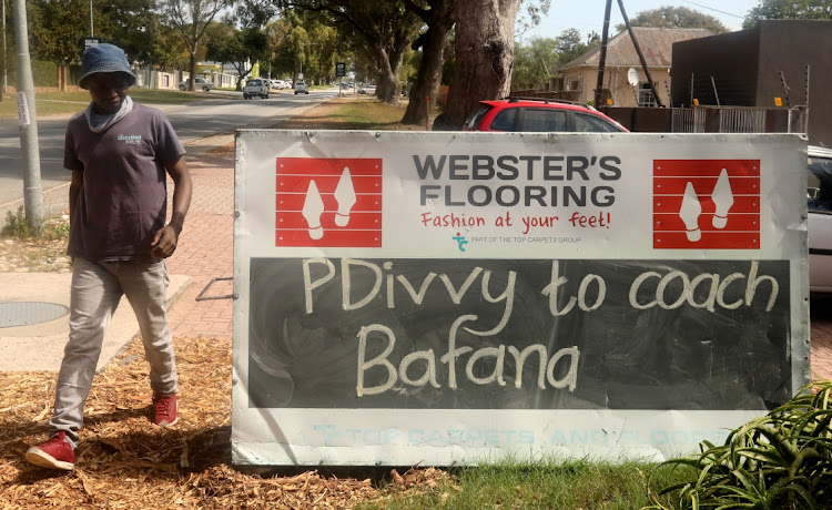 A sign outside Websters Flooring in Walmer had Reason Kachasu in stitches as he walked past
