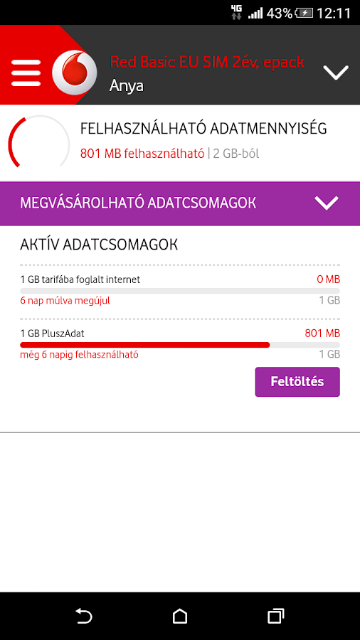 Mobil Vodafone- screenshot