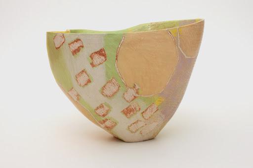 Carolyn Genders Open Ceramic Vessel entitled 'Cornfield'