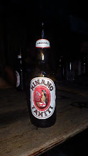 Photo: The famous Tahitian girl adorns the label of the local beer.