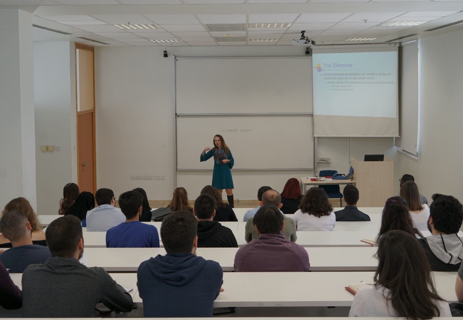 A picture of a lecture being held at METU NCC