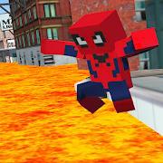 Spider Hero Lava Floor 2:Craft Exploration