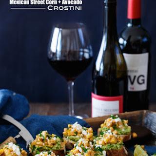 Mexican Street Corn and Avocado Crostini