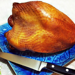 Brined and Smoked Turkey Breast.