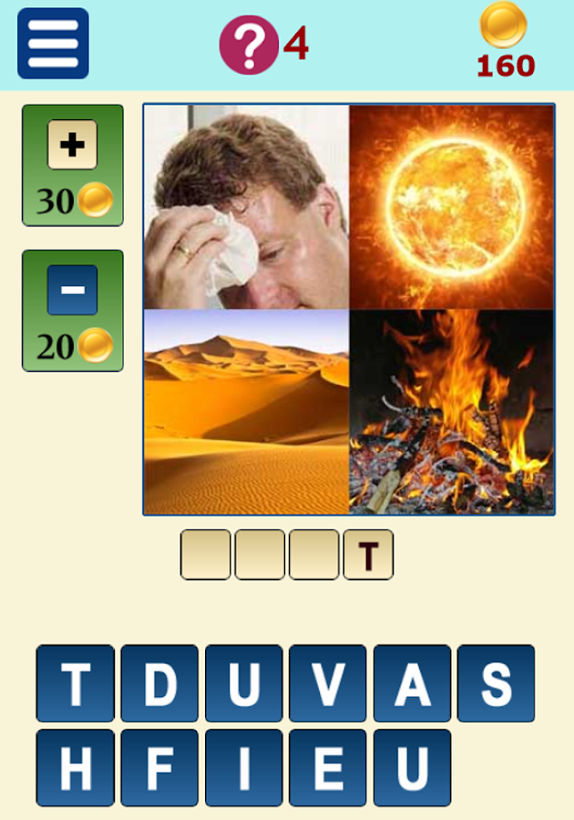 QUIZ 4 Pics 1 Word- screenshot