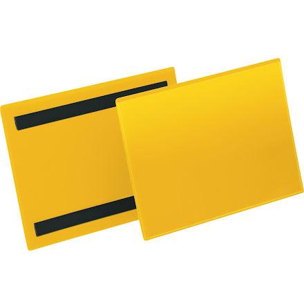 Plastficka A5L magnetisk gul