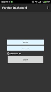 Parafait Dashboard screenshot