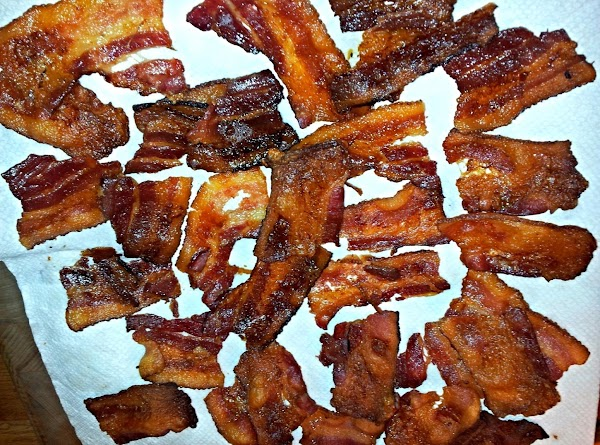 Open bacon package and cut in thirds lengthways. Cover rimmed baking sheet with tin foil...