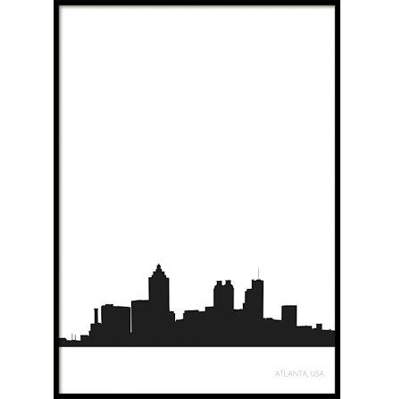 Atlanta Stadssiluett, Poster